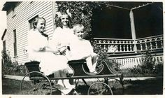 The children of Henry McCormack, (L-R), Edith Marie, Lucille Mae and Charles Harold. It is believe that the picture was taken at their uncle William's house in Otter Lake, Michigan in 1907 or 1908.
