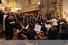 Coros y Orquesta de la Escuela Municipal de Música Luigi Boccherini de Arenas de San Pedro, junto con el Coro Quadrivium de Talavera de la Reina, en el VII Festival Luigi Boccherini de Mayo de 2014.