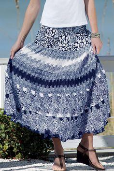 Tiered skirt. Chadwicks.com