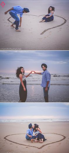 What about this photoshoot? Love Story Shot - Brides in a Pink and Gold Sequinned Lehenga and Grooms in a Black and Red Suit. Pre Wedding Shoot Ideas, Pre Wedding Poses, Pre Wedding Photoshoot, Wedding Pics, Wedding Beach, Wedding Dresses, Wedding Ceremony, Post Wedding, Trendy Wedding