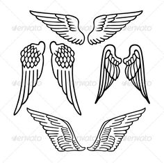 Angel Wings #wings #decorative Download : https://graphicriver.net/item/angel-wings/7431108?ref=pxcr