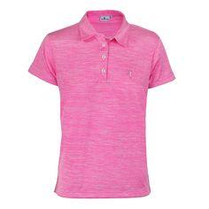 #Ropadegolf. Fabricado en tejido poliéster vigoré. Cuello camisa y mangas abiertas. Logotipo Polo Swing bordado en pecho izquierdo.