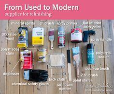 09-14-13 Refinishing 101 Supplies by Britta Swiderski