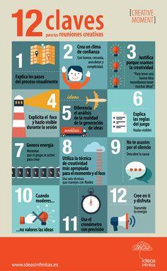 #Infografia #Curiosdidades 12 claves para tus reuniones creativas. #TAVnews