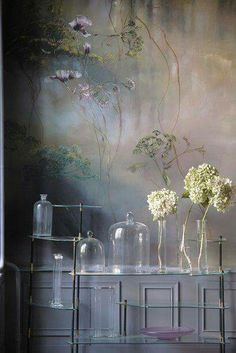 Beautiful floral mural by the French artist Claire Basler