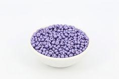 6/0 Matt Pearl Czech Seed Bead Purple