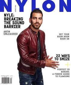 Nylon Magazine mock-up cover. Nyle Dimarco, Cover Boy, America's Next Top Model, Partner Dance, Dapper Gentleman, Dancing With The Stars, Good Looking Men, Reality Tv, Book Lovers