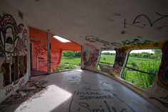 Situated in Homestead, Florida, the abandoned UFO house was rumoured to have been the home of a drug trafficker masquerading as an exotic animal importer.