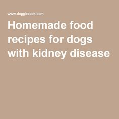 Homemade Dog Food Recipes For Heart Disease