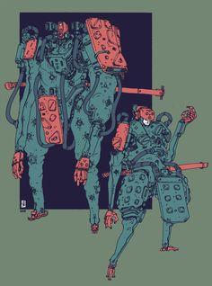 Ronin, Jan Buragay on ArtStation at https://www.artstation.com/artwork/RLO8v
