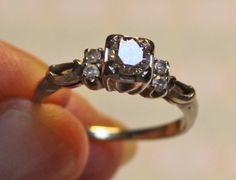 Vintage Diamond & 925 Sterling Silver Engagement Ring - Size 7.25 #Unbranded #Engagement #Engagement