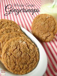 Soft Whole Grain Gingersnaps