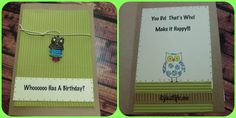 Birthday owl card using charms and corrugated paper.  Easy and cute.  itsjustlife.me