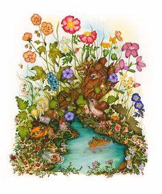 Fairy Bird Art Fantasy Print Childs Room Art от DonnaMariesArt