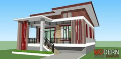 Modern Bungalow House Design, Family House Plans, Beautiful Nature Wallpaper, Home Fashion, Gazebo, Sweet Home, Stairs, Outdoor Structures, House Styles