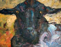 sheepandcows, etsy ; love the wall- eyed gaze