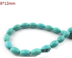 30X 12mm Natural Turquoise round Loose Beads