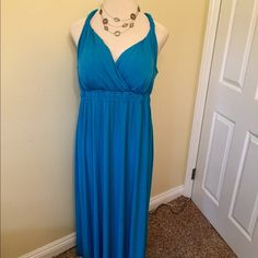 BLUE GODDESS Beautiful blue goddess maxi padded bust nice thick stretchy material. GLAMOUR Dresses Maxi