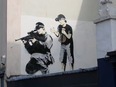 Check out his awesome work if you don't know much about Banksy!