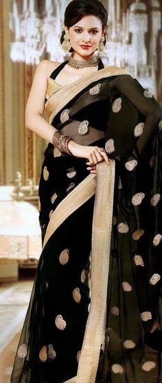 Black Gold Sari