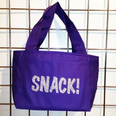Glitter Snack! Insulated Lunch Bag (Purple) - LikeWear Insulated Lunch Bags, Reusable Tote Bags, Purple Bags, Gym Bag, Glitter, Snacks, Fashion, Moda, Appetizers