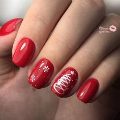 What Christmas manicure to choose for a festive mood - My Nails Xmas Nails, Holiday Nails, Christmas Nails, Pink Nails, Holiday Nail Designs, Diy Nail Designs, Acrylic Nail Designs, Diy Design, Trendy Nail Art