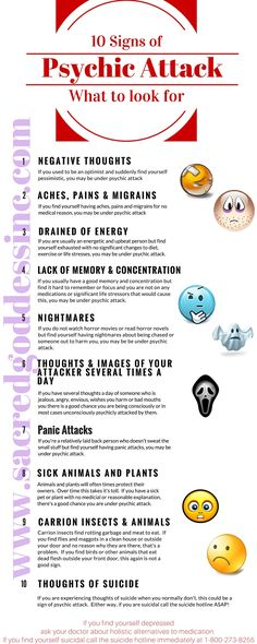 Beginner Wicca - 10 Signs of a Psychic Attack – Follow us for more great infographs. Click the pic to visit our website!