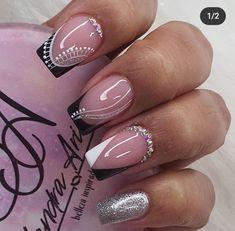Love Nails, Pretty Nails, Ambre Nails, Gel Nails, Acrylic Nails, Home Nail Salon, Best Nail Art Designs, French Tip Nails, Nail Art Galleries