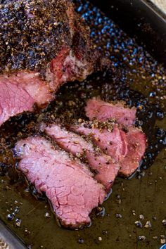 Easy Homemade Pastrami that tastes like your favorite deli sandwich without the high price tag using corned beef to skip the curing!