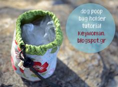 keywoman sews: Dog Poop Bag Holder Tutorial(Πουγκί)