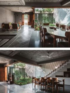 The Heart of the House is the Double Height Courtyard Interior Architecture, Interior And Exterior, Interior Design, Tropical Interior, Japanese House, Modern Industrial, Modern House Design, Traditional House, Sweet Home