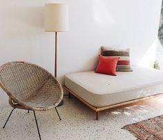 classic terrazzo floor in the sunnyview wexler house.