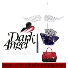 "ovvero, #dolce e #dannata #dark #angel ! #michaelkors #bag #black and #red now on www.robyzlfashionblog.com  ""Dark Angel"" by robertazl on Polyvore"