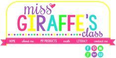 Miss Giraffe's Class: Math