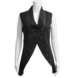 Elm Black Vest: Black vest with front snap buttons.  100% linen.  Hand Wash.  Icelandic design.