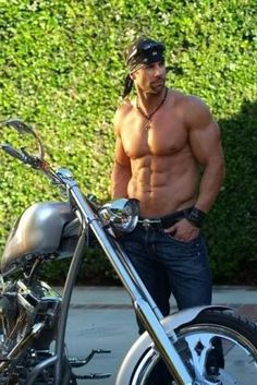 who I think looks like Motorcyle Man by Kristen Ashley -- Love Tack and I totally think this guy is on point!