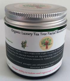Organic Luxury Tea Tree Facial Moisture Cream - 60ml
