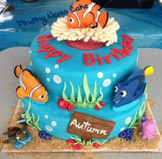Finding Nemo Cake made by Shannon for Autumn. Best Nemo cake ever!!