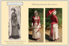 Reproduction 1882 gown  by LaraCorsets