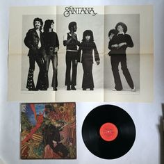 Santana - Abraxas_with POSTER_vinyl record LP_Excellent_(KC 30130)