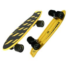 """Atom 21"""" Mini Retroh Yellow Skateboard Atom Longboards, Feathered Hair, Plastic Injection, Things To Buy, Stuff To Buy, Black Sabbath, Rebounding, Skateboards, Your Best Friend"""
