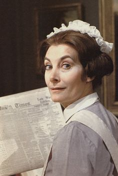 """Jean Marsh as Rose in """"Upstairs, Downstairs"""" Jean Marsh, Victorian Maid, British Costume, Bbc Drama, Miss Marple, Best Mysteries, Comedy Tv, Anne Of Green Gables, Agatha Christie"""