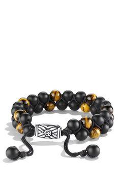 David Yurman 'Spiritual Beads' Two-Row Stone Bracelet available at #Nordstrom
