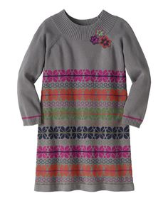 Take a look at this Gray Yarn Shop Sweater Dress - Girls on zulily today!