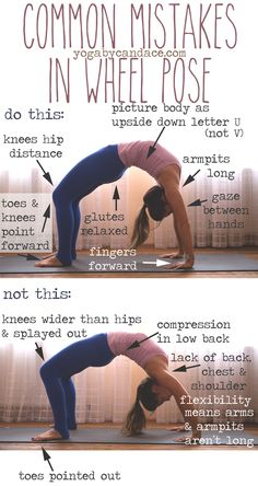 Common Mistakes in Wheel Pose. theyogamatstore.com has a wide selection of strong, durable eco-friendly yoga mats and accessories
