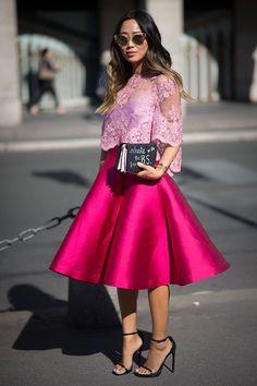 Variedad de estilo y color en las calles de Paris Fashion Week