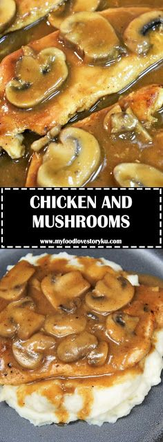 If you're due for a wonderful home-cooked meal, this chicken and mushrooms dinner is it! Ingredients pounds Chicken Breast boneless and s. Slow Cooker Recipes, Meat Recipes, Chicken Recipes, Cooking Recipes, Chicken Ideas, Easy Dinner Recipes, Dessert Recipes, Dinner Ideas, Desserts