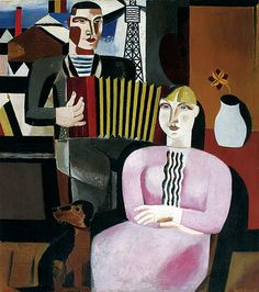 "Gustave de Smet (Belgian, 1877 - ""The Accordion Player"" Modern Art, Contemporary Art, Franz Marc, Museum, Dog Art, Art Music, Female Art, Les Oeuvres, Art History"