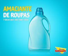 Existem outras funções do amaciante que podem te ajudar na limpeza da casa! Confira: http://www.supermercadosguanabara.com.br/dicas/outras-funcoes-do-amaciante