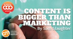 Expand your brand's content value beyond marketing to other parts of your organization and simultaneously grow your influence – Content Marketing Institute